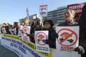 अमेरिकी-दक्षिण कोरिया संयुक्त वायुसेना युद्धाभ्यास, विरोध में उतरे नागरिक