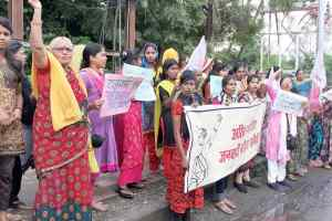 चिन्मयानंद कोगिरफ्तार करो, छात्रा को रिहाकरो, जमस ने निकाली रैली किया प्रदर्शन